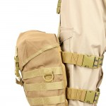 The Gas Mask Drop Leg Platform in Coyote