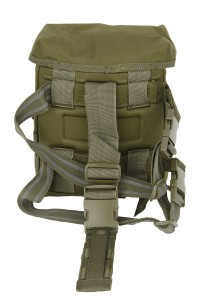 The Gas Mask Drop Leg Platform in Olive Drab