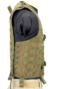The Mission Convertible Vest in Olive Drab